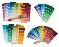 Färgprovkartor Arkivbild