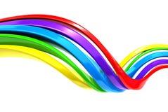 Färgrik abstrakt kurvbandbakgrund Arkivfoton