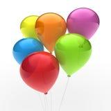 färgrik ballon 3d Arkivfoto