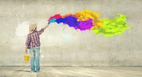 Färgrik barndom Fotografering för Bildbyråer
