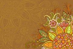 Färgrik blom- modell Arkivfoto