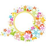 färgrik blom- ram Royaltyfri Fotografi