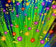 Färgrik blommabakgrund Arkivfoto