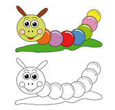 färgrik caterpillar Royaltyfri Fotografi