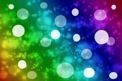 Färgrik de fokuserad bakgrund för cirkelljusabstrakt begrepp Arkivbild