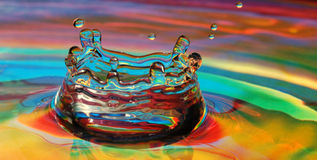 Färgrik droppinverkan Royaltyfri Foto