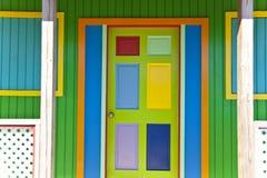 färgrik dörr Arkivfoto