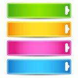 färgrik etikett Royaltyfri Fotografi