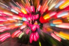 Färgrik färg av ljus för lampa för rörelsesuddighet Royaltyfri Bild