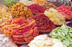 färgrik fruktgelé för godisar Arkivbilder