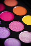Färgrik ögonskuggapalett Fotografering för Bildbyråer