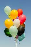 Färgrik grupp av heliumballonger Royaltyfria Bilder