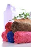 Färgrik handduk Arkivfoto