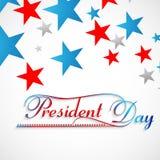 Färgrik härlig bakgrund för stjärnapresidentdag Arkivbild