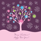 färgrik illustration för jul Royaltyfria Foton