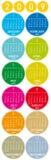 färgrik kalender 2009 Royaltyfri Fotografi