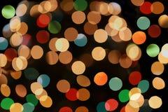 färgrik lampa för bokeh Arkivbilder