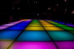 färgrik lighting för dansdiskogolv Royaltyfri Fotografi
