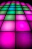 färgrik lighting för dansdiskogolv Arkivbilder