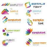 färgrik logo Royaltyfri Foto