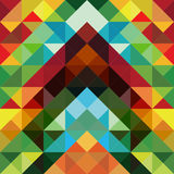 färgrik modelltriangel för abstrakt bakgrund Royaltyfria Bilder