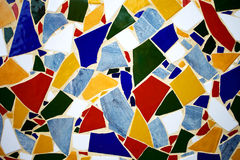 färgrik mosaikmodell Arkivfoto