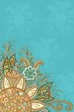 Färgrik och för kontur blom- modell Royaltyfri Bild