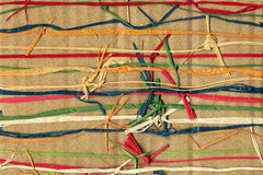 Färgrik paper väv Royaltyfria Bilder