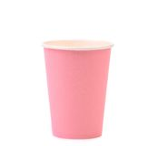 Färgrik pappers- kaffekopp. Arkivbild