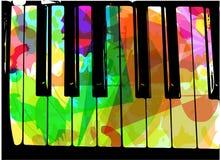 Färgrik pianoillustration Royaltyfri Foto