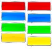 färgrik ramset Arkivbild