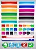 Färgrik rengöringsdukknapp Arkivbild