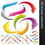 färgrik samling för pil 3d Arkivbild