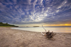 Färgrik solnedgång på Lake Erie Royaltyfri Bild