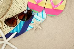 färgrik sommar för beachwear Arkivfoto
