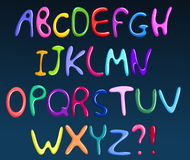 färgrik spagetti för alfabet Arkivfoton
