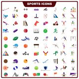Färgrik sportsymbol Arkivbilder