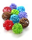 färgrik tråd för bollar Royaltyfri Fotografi