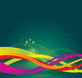 färgrik wave för abstrakt bakgrund Arkivfoton