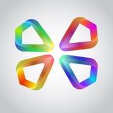 Färgrika abstrakt begreppdesigner eller former Arkivbild