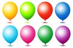 färgrika ballons Arkivfoton
