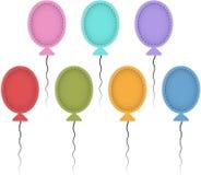 Färgrika ballons Arkivbilder