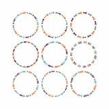 Färgrika cirkeldesignbeståndsdelar för ramar och baner - uppsättning 1 Royaltyfria Foton