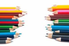 färgrika crayons Royaltyfri Fotografi