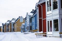 färgrika facades Arkivfoto