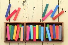 Färgrika färgpennor Fotografering för Bildbyråer