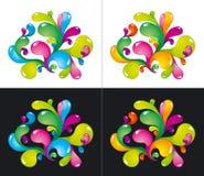 färgrika färgstänk Royaltyfria Bilder