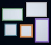Färgrika gränser främre bild eller foto Arkivfoton