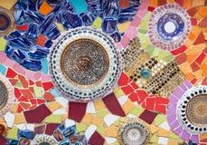 Färgrika keramiska belägger med tegel Arkivfoto