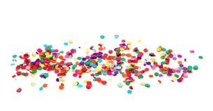 färgrika konfettiar Arkivbilder